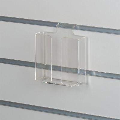 Brochureholder i opbukket klar akryl for rilleplader - A6 lodret