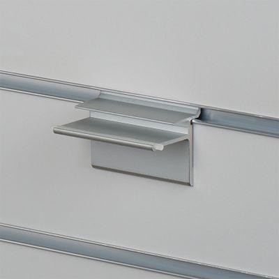 Hyldebærer til rillepanel for glashylder - elokseret aluminium