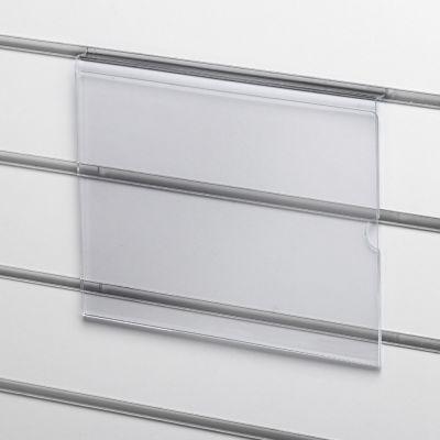 Skilteholder til A4 i liggende format - for panelpladerpasser til format 21x29,6 cm papir - 2 mm klar akryl
