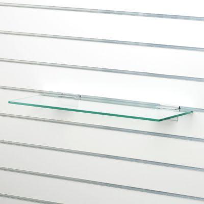 Glashylde i klart glas til rillepanel - findes i 3 forskellige farvermål L40xD25 cm - tykkelse 8 mm