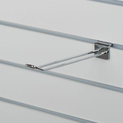 Varekrog dobbelt til panel - chrom overflademål L25 cm - trådtykkelse 0,5 cm