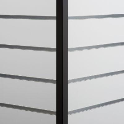Sort hjørneliste til udvendig hjørnemål 2,5x2,5 cm og længde 240 cm