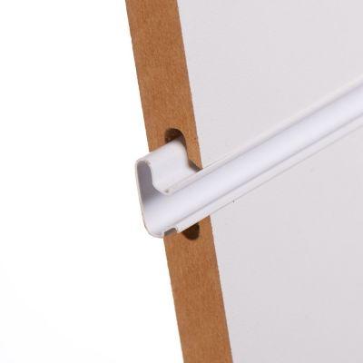 Plastindsats for panelplade - 240 cm i hvid