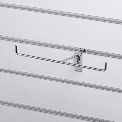 T-ophæng til panelplade - til smykker og andre lette varer - chrom overflademål D10xB25 cm