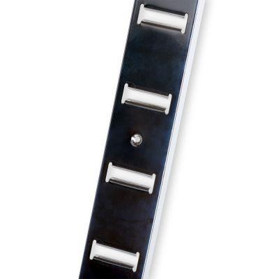 Vægskinner til paneltilbehør - overflade i rustikt zink - H240 cm