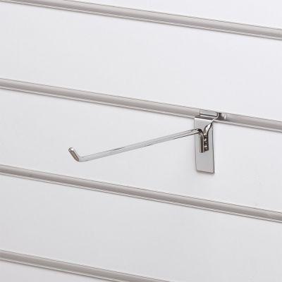 Varekrog enkel for rillepanel - overflade i chrommål L25 cm - trådtykkelse 6 mm