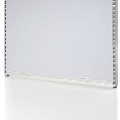 Bundbeslag for gavlramme NS-32-91 og der skal bruges 2 beslag for hver gavlrammeoverflade i hvid lak - kun til glat plade