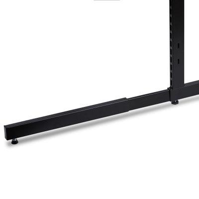 Sort lakeret ekstra fod til L-søjle for dobbeltsidet gondol / modulfag