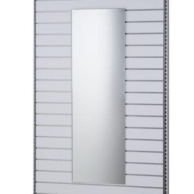 Spejl til prøverum for panel - hænges på rillepanel - mål H150xB50 cm
