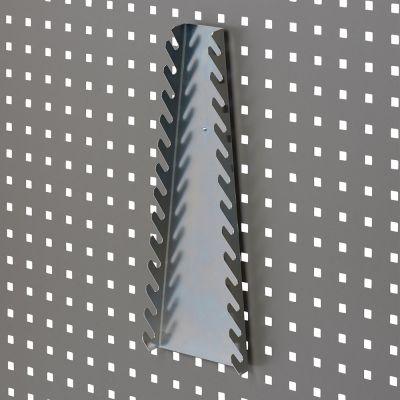 Fastnøgleholder for 13 gaffelnøglerværktøjsophæng til værkstedsplade med firkantede huller