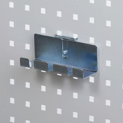 Fileholder - skruetrækkerholder for 3 enhederværktøjsophæng til værkstedsplade med firkantede huller