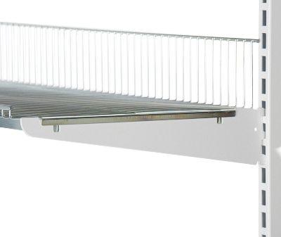 Hyldeknægte i hvid lak for trådhyldemål L 30 cm - deling 32 mm