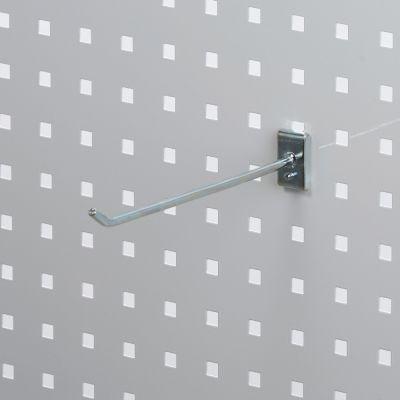 Værktøjsophæng - dobbelt varekrog i zink - til hulplade med firkanthuller mål 20 cm - trådtykkelse Ø6 cm