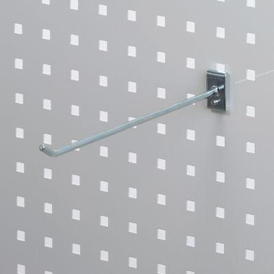 Værktøjsophæng - dobbelt varekrog i zink - til hulplade med firkanthuller mål 25 cm - trådtykkelse Ø6 cm
