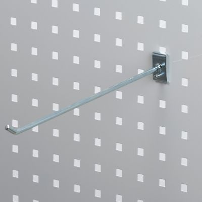 Værktøjsophæng - dobbelt varekrog i zink - til hulplade med firkanthuller mål 30 cm - trådtykkelse Ø6 cm