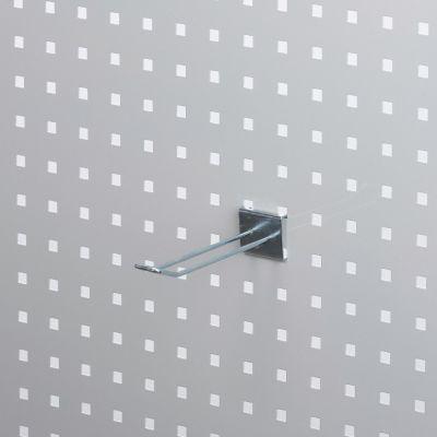 Værktøjsophæng - dobbelt varekrog i zink - til hulplade med firkanthuller mål 10 cm - trådtykkelse Ø4 cm