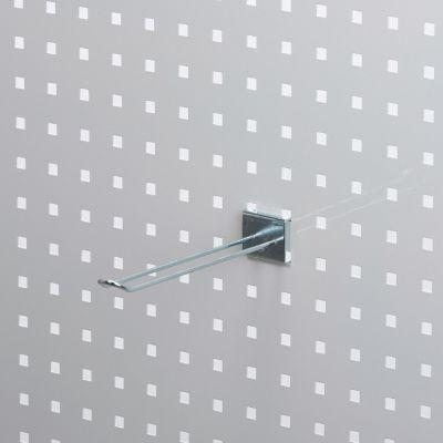 Værktøjsophæng dobbelt varekrog 20 cm i zinkfor hulplade med firkanthuller - trådtykkelse Ø4 mm