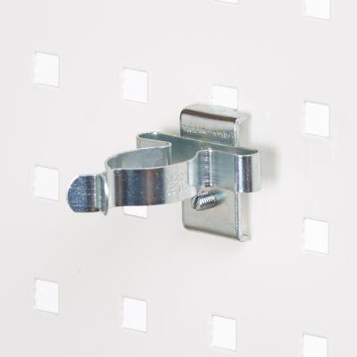 Fjederklemme for hulplader til Ø31 mm emner - overflade i zinkpasser til firkantede hulplader
