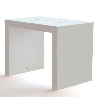 PC Bord 119x79 cm. Højde 92 cm. Hvid lak