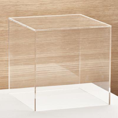 Akryl montre med åben ende - mål 15x15x15 cm