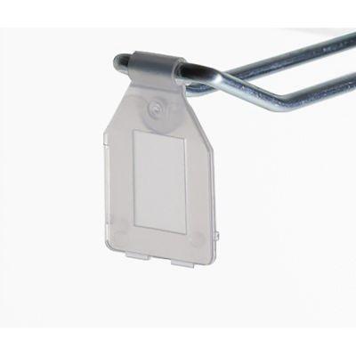 Prisfane for dobbelt varekroge med trådtykkelse op til Ø5 mm - transparent plast