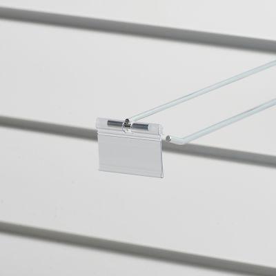 Prislomme til kroge med prisarm - transparent plastmål B52xH26 cmm - til etikethøjde 26 mm