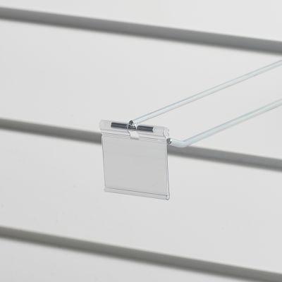 Prislomme til kroge med prisarm - transparent plastmål B52xH40 cmm - til etikethøjde 39 mm