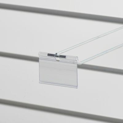 Prislomme til kroge med prisarm - transparent plastmål B70xH40 cmm - til etikethøjde 39 mm