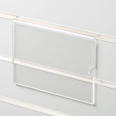 Skilteholder i klar akryl for panelplader - A5 liggendepasser til format 21,0 x 14,8 cm papir