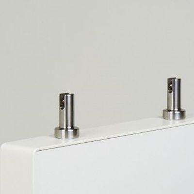 Skilteholder for gulvreoler - 2 stk. pr. sætMontering ved 2 kraftige magneter - skiltetykkelse op til 4 mm