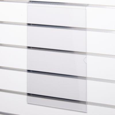 Skilteholder i klar akryl for panelplader - A3 ståendepasser til format 42,0 x 29,6 cm papir
