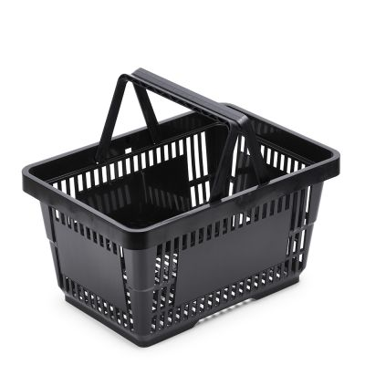 kundekurv - Indkøbskurve 22L sort plast