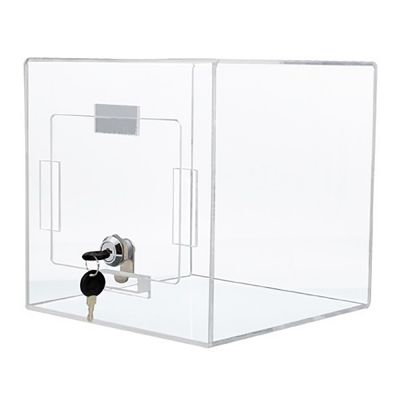 Stemmeboks -  Forslagskasse - Klar akryl