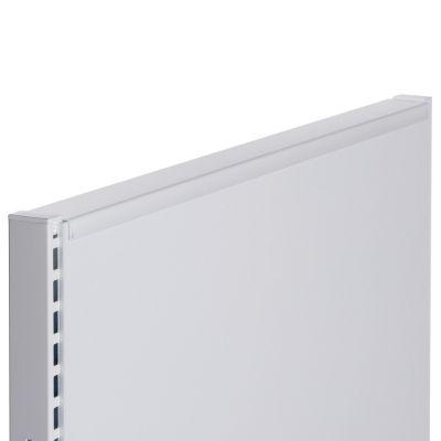 Hvid topafslutning for gulvreol - 90 cm