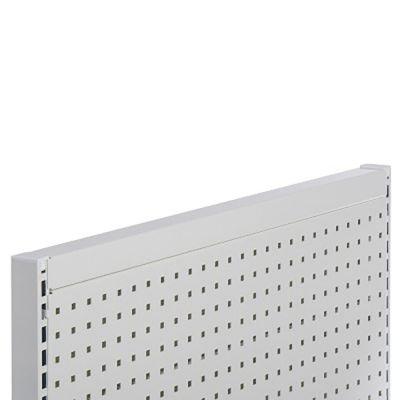 Topafslutning for gavlramme - hvid lak