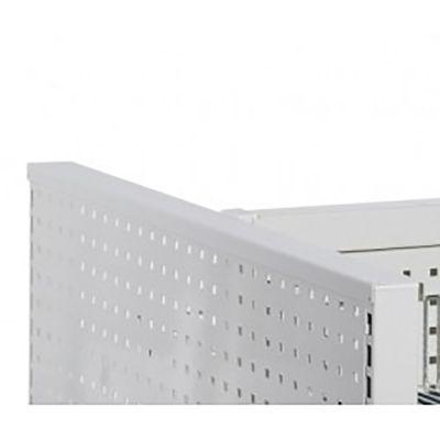 Topafslutning for gavlramme i hvid lak