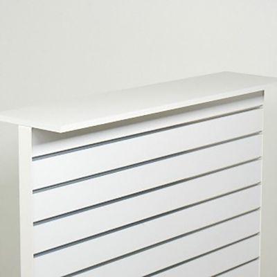 Hvid melamin tophylde - passer til vores gulvstander NS-26-00mål L120xD30 cm