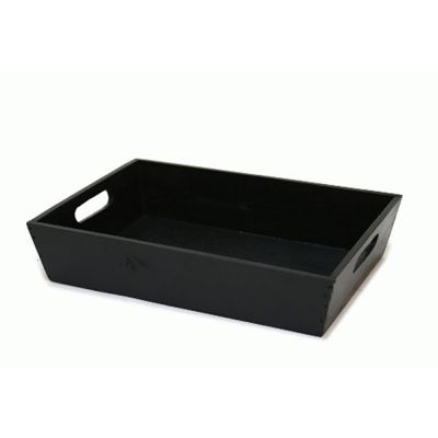Træbakke sort | 38 x 27 x H-8 cm |