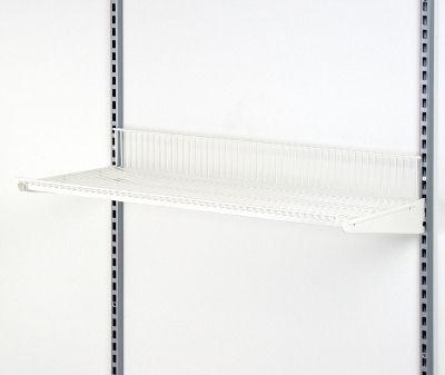 Trådhylde i hvid lak - mål B90 x D30 cm