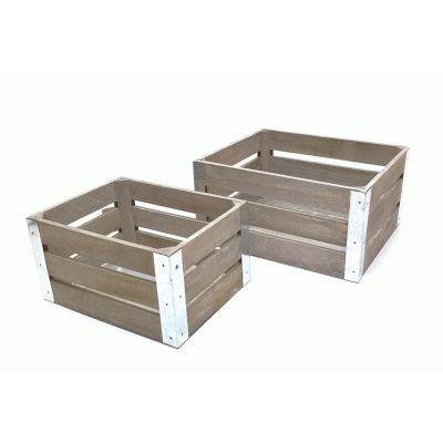 Dekorationskasse - trækasse - æblekasse