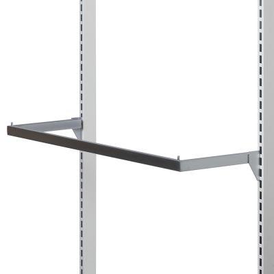 Bøjlestang i mat satin chrom - bøjlestang passer til vægsystem 90 cmmål B90xD28 cm