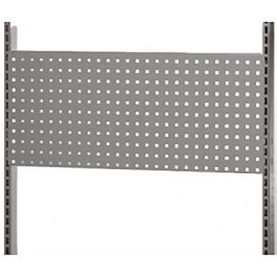 Værkstedsplade med firkantede huller - gråmål H38xB90 cm - passer til L-søjle 237 cm