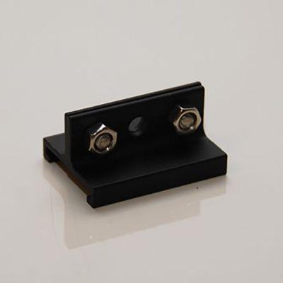Wirebeslag kort - til sort skinne - til montering på 3-faset strømskinne