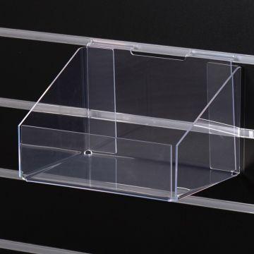 Impulsdisplay i kraftig plexiglas for rillepaneler<br />mål B25,5xD18xH15 cm