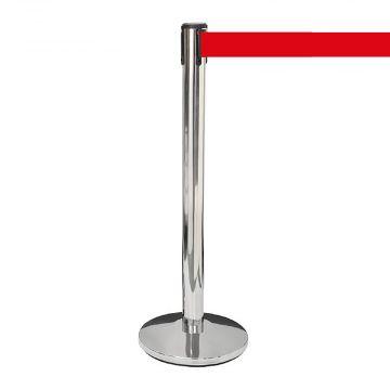 Afspærringsstolpe 1 stk med rødt