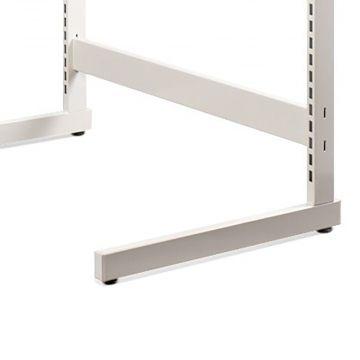 Afstandsstykke i hvid lak - passer til alle vores L- og T-søjler - 120 cm