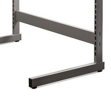 Afstandsstykke grå pulverlakeret metallic lak - 60 cm<br />der bruges 2 afstandsstykker pr. gondol
