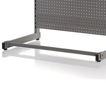 Afstivningsbom - grå robust mørkegrå pulverlakeret metallic lak<br />passer til både 90 og 120 cm butiksmoduler