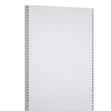 Bagplade for søjler - topdel i hvid melamin - mål højde 110,6 cm