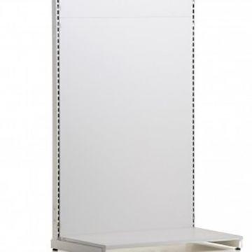 Bagplade for søjler - bunddel i hvid melamin - mål højde 124 cm